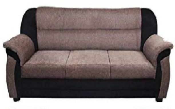 Shree Fabric 3 + 1 + 1 white Sofa Set