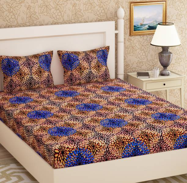 METRO LIVING 104 TC Cotton Double Floral Bedsheet