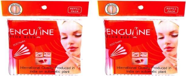 PENGUINE PREMIUM COTTON BUDS //EAR BUDS-PACK OF 2-200 STICKS-400 SWABS