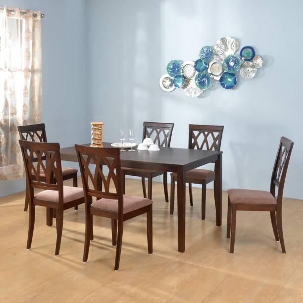 @Home by nilkamal Peak Solid Wood 6 Seater Dining Set