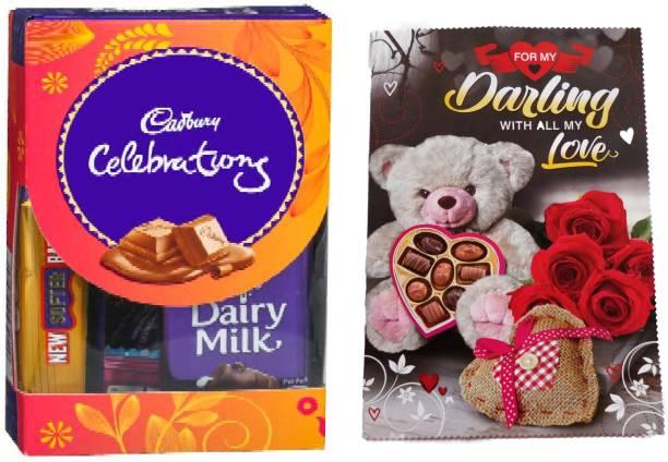 Cadbury Mini Chocolate With Anniversary Greeting Card Combo