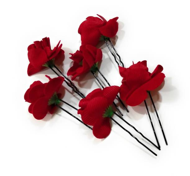 Skd Red Flower/Rose Hairpins/U PINS/Hair Accessories Hair Pin