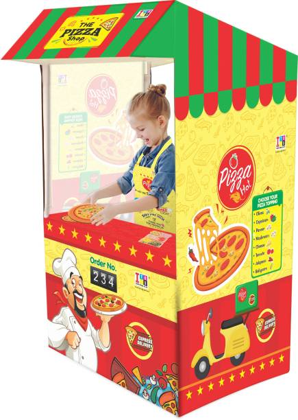 ITOYS Pizza truck Role Play tent house for Kids