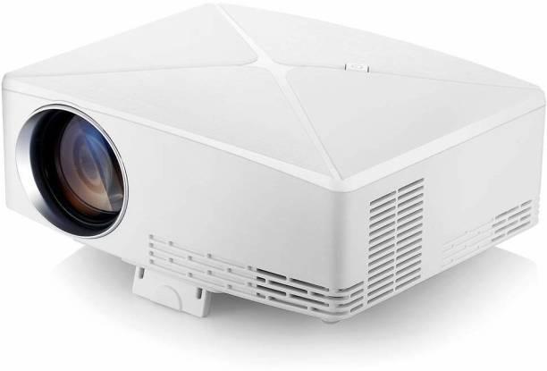 VIVIBRIGHT 720P 2200(HDMI/USB/VGA/AV)180INCH Screen Size C80UP White Projector 2200 lm LCD Cordless Portable Projector
