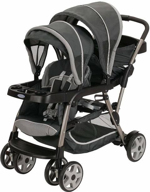 GRACO Ready2Grow Click Connect LX Double Stroller, Glacier Stroller