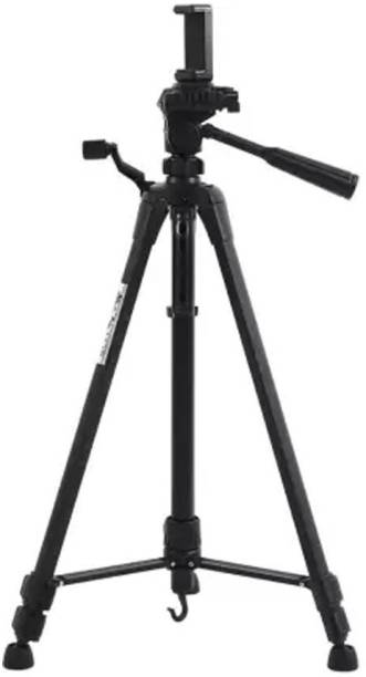 Blue Birds High Quality Tripod-3388 Adjustable Aluminium Lightweight Camera Stand Tripod New Arrival Stand 360 Degree With Three-Dimensional Head & Quick Release Plate specially designed multi-purpose head Professional Foldable Mobile holder for All Mobiles & Smartphones Best Use for Make Videos For Video Cameras and mobile clip holder & Bluetooth Remote Tripod, Tripod Kit, Tripod Ball Head