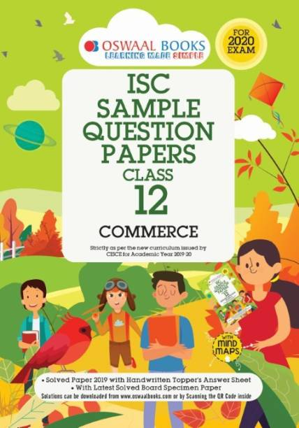 Oswaal ISC Sample Question Papers Class 12 Commerce (For 2020 Exam)