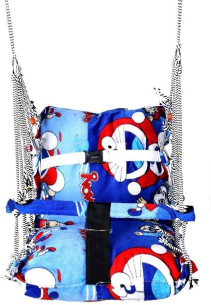 hatke dukan All New Folding and Washable Cotton Hanging Home Swing Swings