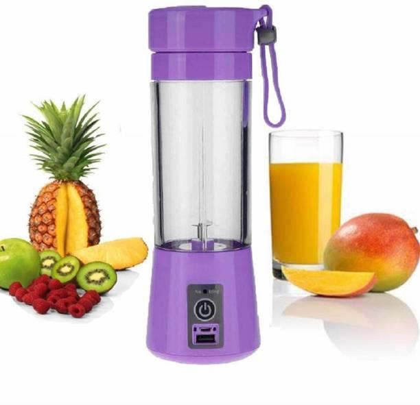 QUALIMATE na Portable Usb juice machine, mini usb juicer bottle multi-colors 220 Juicer Mixer Grinder (1 Jar, multi colors)