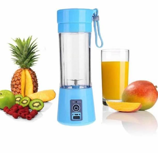 QUALIMATE na portable juice machine, mini usb juicer bottle multi-colors 220 Juicer Mixer Grinder (1 Jar, multi-colors)