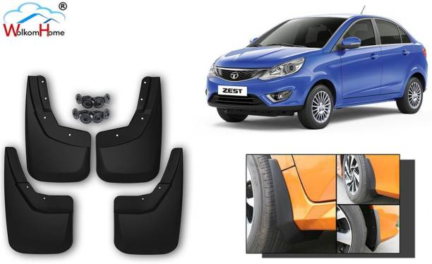 WolkomHome Front Mud Guard, Rear Mud Guard For Tata Zest NA