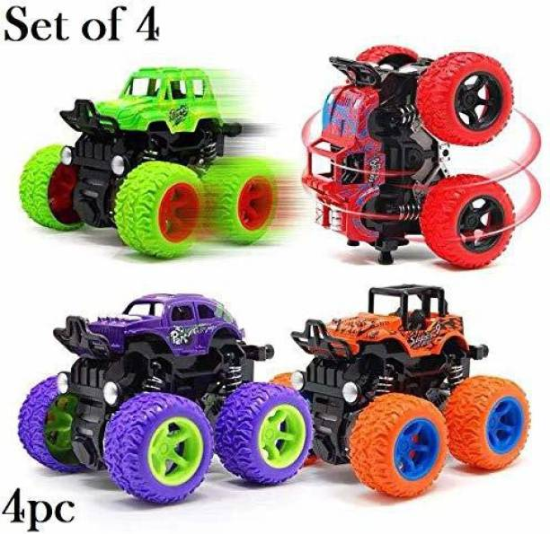 Tenderfeet Friction Powered Mini Monster Cars for Kids With Big Rubber Tires