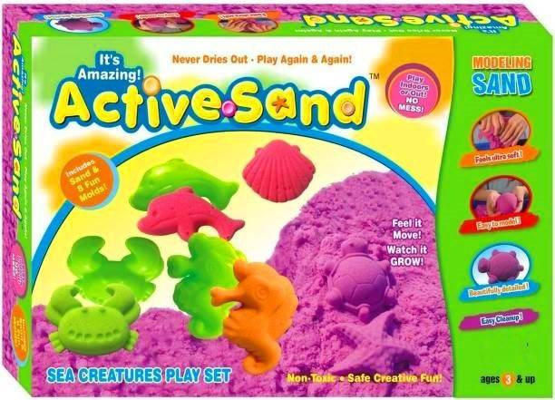 teetos Active Sand (Sea Creatures Play Set)