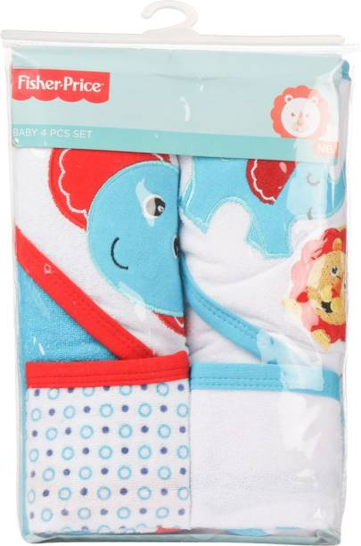 FISHER-PRICE Fisher Price Baby Bath Set Pack of 4 Blue (Elephant)