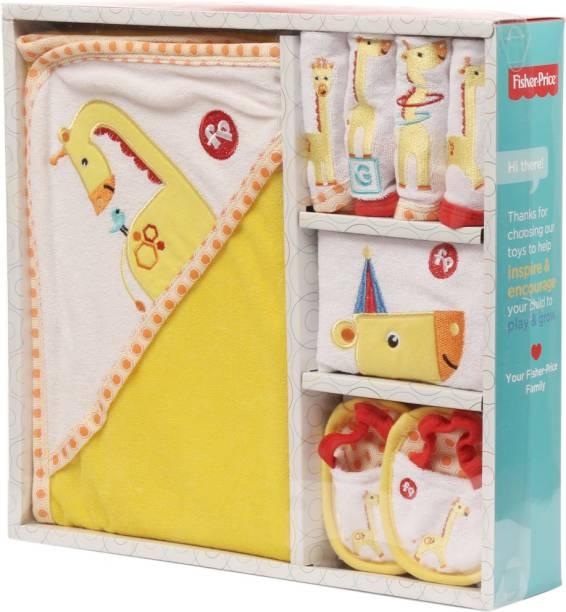 FISHER-PRICE Fisher Price Baby Bath Set Pack of 7 Yellow (Giraffe)