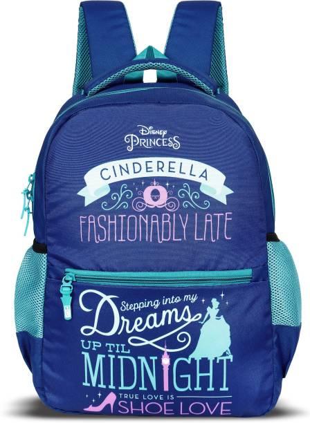 Priority Princess Cinderella Royal Blue Casual Backpack School Bag  College Bag School Bag