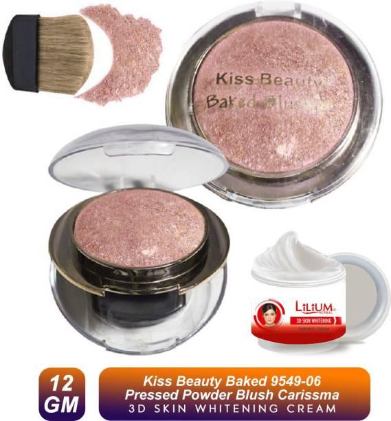 Kiss Beauty Baked Blush-9549-06 With Skin Whitening Cream 20ml