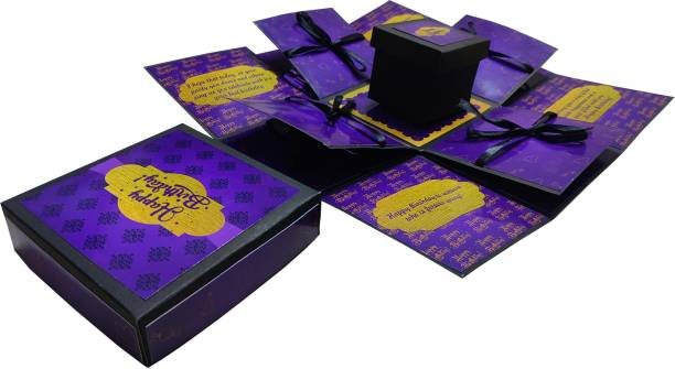 Easycraftz Purple Birthday Chocolate Explosion box (without chocolates) Greeting Card