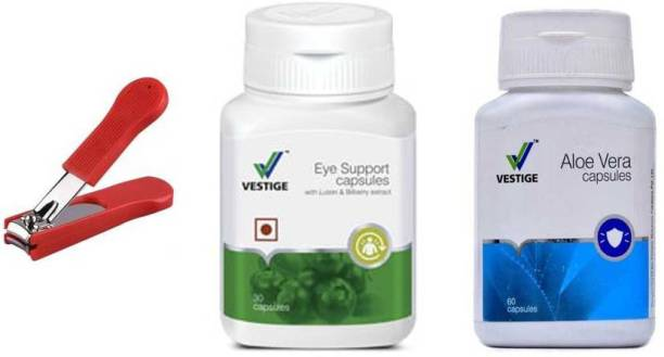 Vestige Eye Support and aloe vera with nail cutter