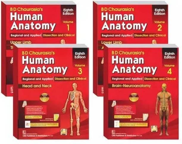 BD Chaurasia's Human Anatomy 8th Edition 2019 (Volume 1, 2, 3,4)