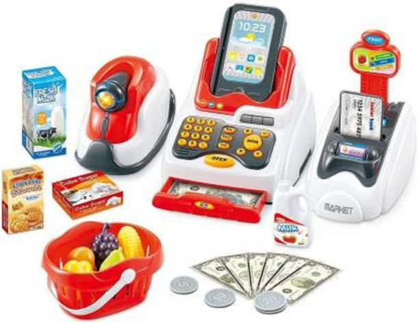 Hetkrishi Cash Register Play Set with Real Counter Sound