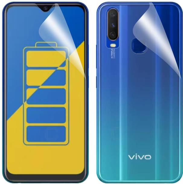 Case Creation Front and Back Screen Guard for Vivo Y15