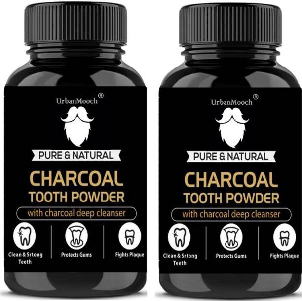 UrbanMooch Natural Activated Charcoal Teeth Whitening Powder(20 g)-Pack of-2-Bottle-(40gm)