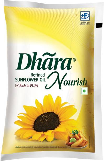 Dhara Refined Sunflower Oil Pouch