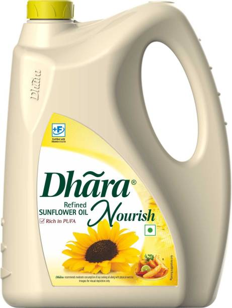 Dhara Refined Sunflower Oil Can