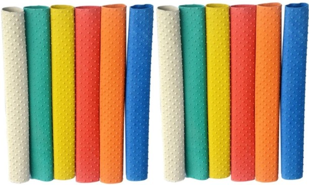 New 12 Cricket Bat Rubber Grip Plain Spare Replacement Handle Coloured Grips