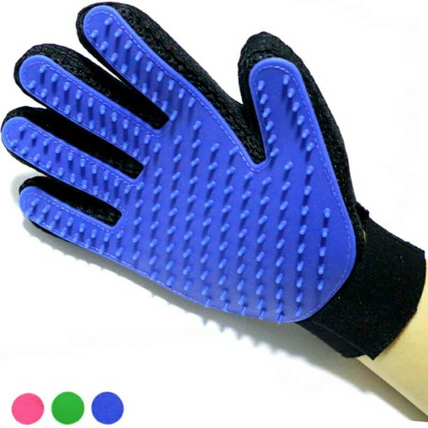 fashionhike Dog Bath Pet cleaning Supplies Pet Glove Dog Accessories Basic Grooming Gloves for Dog, Cat, Donkey