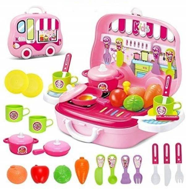 Tenderfeet Pretend Play Carry Along Kitchen Food Play Set