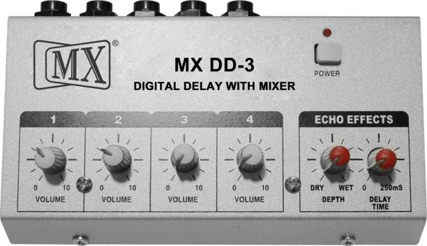 MX Digital delay EFX processor with Echo and 4 Channel Mixer Analog Sound Mixer