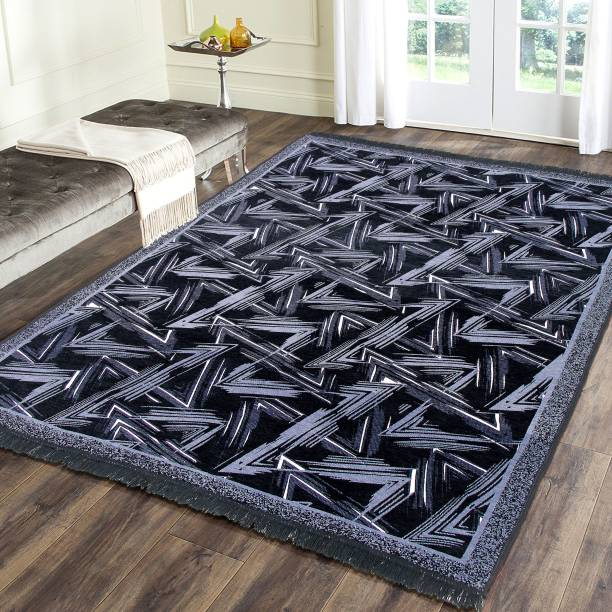 Flipkart SmartBuy Black Chenille Carpet