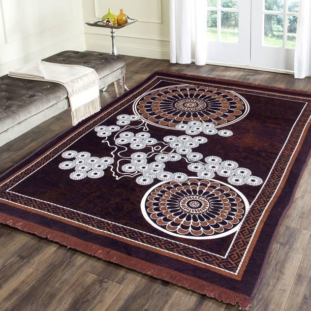 Flipkart SmartBuy Brown Chenille Carpet