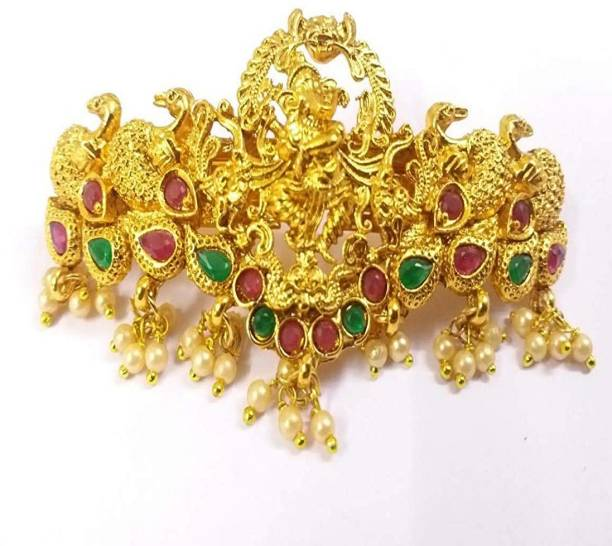 APARA Gold Plated Temple Jewellery Hair Clip Accessories For Women / Girls Hair Clip