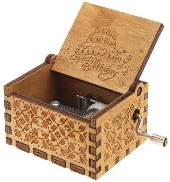 Zahuu Wooden Music Box Happy Birthday Instrument