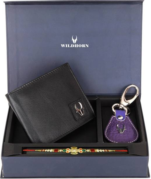 WildHorn Bracelet Wallet, Rakhi, Key Ring  Set