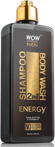 WOW SKIN SCIENCE Energy 2-in-1 Shampoo + Body Wash250mL
