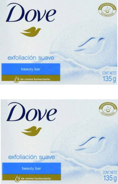 DOVE Imported (Made in Germany) Exfoliacion suave Beauty Bar,