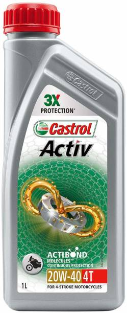 Castrol Active 4T 20W-40 1L Synthetic Blend Engine Oil
