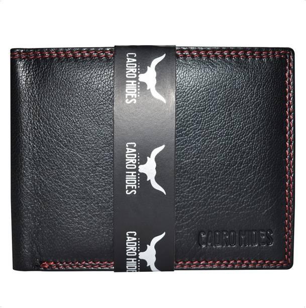 cadrohides Men Black Genuine Leather Wallet