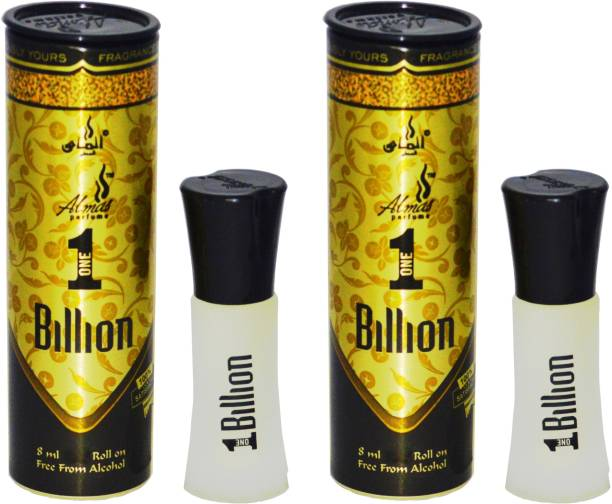 Almas 1 BILLION UAE fascinating fragrance pocket ( PACK OF 2 ) Floral Attar