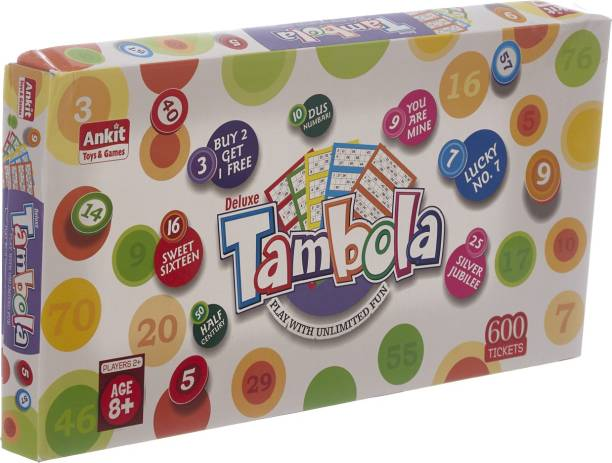 Ankit Jumbo Classic Tambola Board Game with 600 tickets Party & Fun Games Board Game