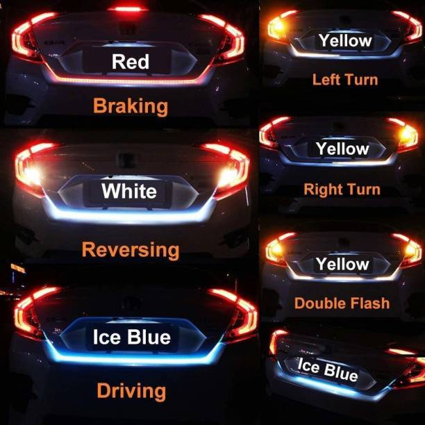 Auto Mac Flow Led Strip Trunk Dicky Boot Tail Lights Car Fancy Lights