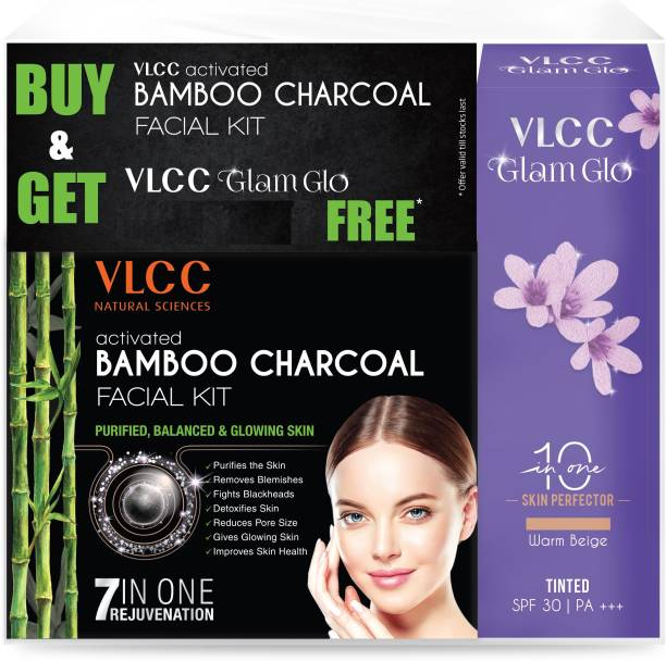 VLCC Activated Bamboo Charcoal Facial kit + Glamglow