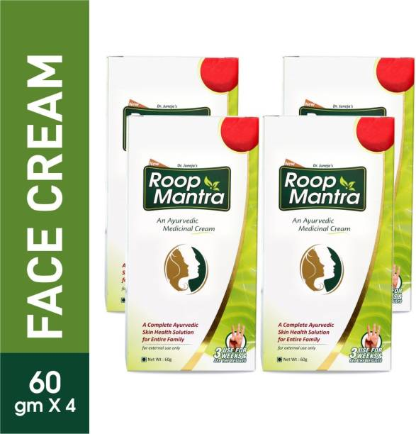 Roop Mantra Ayurvedic Fairness Face Cream 60gm (Pack of 4)