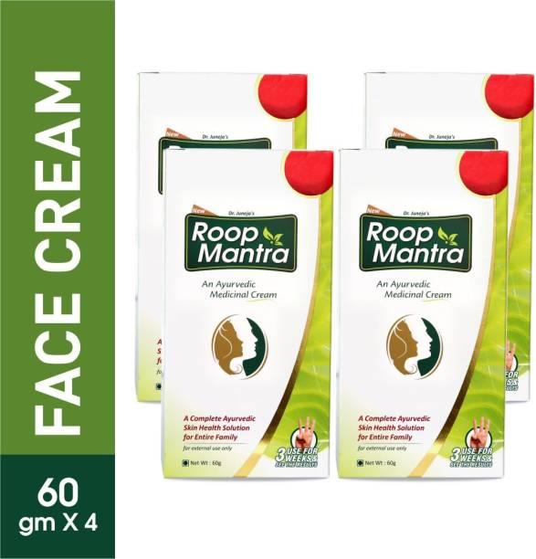 Roop Mantra Ayurvedic Fairness Face Cream 60gm (Pack of 4)