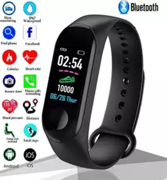 i-BEL M3 Smart Band With Heart Rate Sensor Features And Water Proof Fitness Band