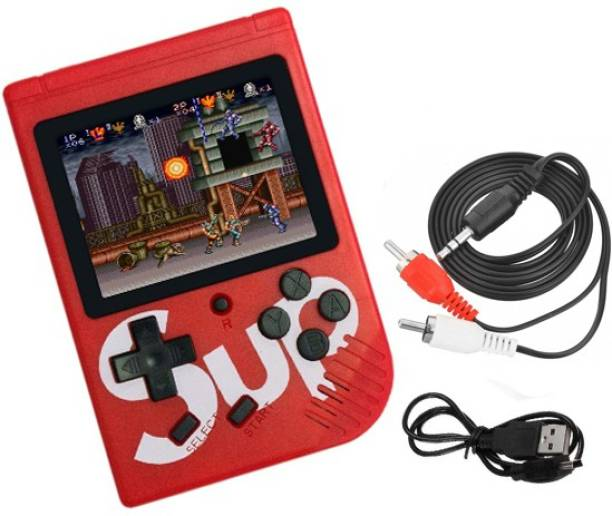 BUY SURETY New Collection SUP Handheld Game Console,Portable Video Game 3 Inch HD Screen,Portable Retro Game Console for Player Classic Game Console With 1 USB Charge and 1 TV output cable Birthday Presents for Children & Inbuilt With 400 Games Like Snow Bros, Contra, Spiderman, Bomber Man, Adventure Island, SEGA etc with 400 In 1, Snow Bros, Contra Series, Super Mario, Bomber Man, Spider Man